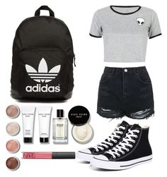 """""""Untitled #28"""" by bayan-salame ❤ liked on Polyvore featuring WithChic, Topshop, Converse, adidas Originals, Terre Mère, Bobbi Brown Cosmetics and NARS Cosmetics"""
