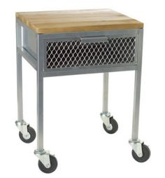 Threshold Industrial Look Accent Table