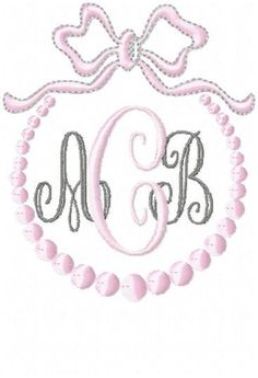 Lilly Monogram Font - Comes in 3 Sizes and 2 types Machine Embroidery Font Active Photos