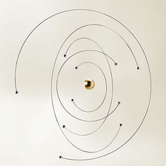 Niels Bohr Atom Mobile by Flensted Mobiles | MONOQI #bestofdesign | Origin Denmark | Material Beech Wood, Stainless Steel