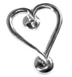 Chrome Heart Door Knocker - Chrome Door Knockers - Door Knockers - Door Furniture - Hardware - Catalogue | Black Country Metal Works
