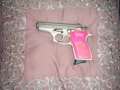 Bersa Thunder 380 customized pink handgun Concealed Carry Weapons, Pink Guns, Kiss Kiss Bang Bang, Hunting Girls, Weapon Of Mass Destruction, Custom Guns, Girls World, Guns And Ammo, Self Defense
