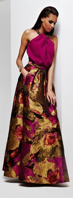 Carmen Marc Valvo ~ Perfect for Holiday! Ball Skirt, Dress Skirt, Dress Up, Carmen Marc Valvo, Beautiful Gowns, Fashion Prints, Dress To Impress, Runway Fashion, Marie