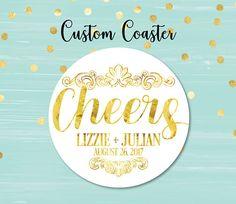 Cheers Coaster Wedding Coaster Personalized Coasters Custom