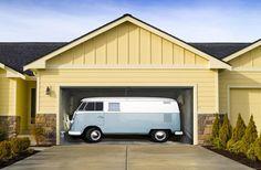 The Question Is.. How Was It Parked Sideways? Garage Door Mural.