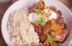 Fantastisch vegetarisch: heerlijke chili sin carne met zoete aardappel Rice, Chicken, Dinner, Chili Con Carne, Dining, Food Dinners, Laughter, Jim Rice, Cubs
