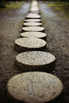Stepping stones at Kajyu-ji, Kyoto, Japan. #Simply #Stone