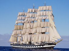 The Kruzenshtern or Krusenstern is a four-masted barque and tall ship that was built in 1926 at Geestemünde in Bremerhaven, Germany as the Padua, registered in Russia.