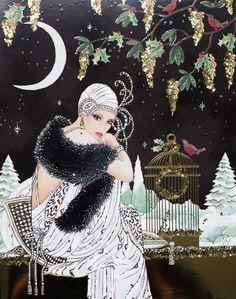 Art Deco Lady... Новогоднее.... Обсуждение на LiveInternet - Российский Сервис Онлайн-Дневников: