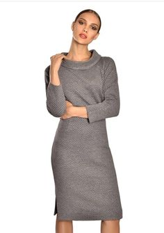 Grey knitwear collar blouse Guy Laroche, Collar Blouse, Knitwear, Fashion Outfits, Guys, Sweaters, Clothes, Dresses, Outfits