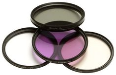 Polaroid - 72mm Lens Filter Set - Clear/Green/Violet (Clear/Green/Purple)