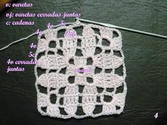 flower granny square pattern, in Spanish by Paso a Paso