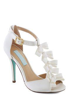Betsey Johnson Fairy Tale Flair Heel. Cute wedding shoe!