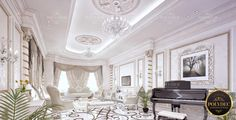 POLY DESIGN LUXURY RICH INTERIOR VILLA  Luxury  Rich Villa designed by Poly Dieb architecture and design team.  The walls which are finished with the shades of white are combined with the modernized Poly Decorative elements. In our classic designed Poly pilaster columns, we combine the magnificent color of gold. For more details :   90 216 306 00 72  /  971 4 586 9140  You Imagine, We Can Make It  Polidec Luxury   Exterior Design    #villa #polidec #polyurethane #polidecluxury #qatar #wall Perfect Image, Perfect Photo, Great Photos, Cool Pictures, Villa Design, Shades Of White, Exterior Design, Luxury, Architecture