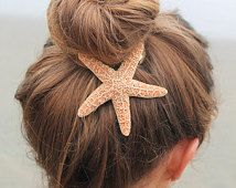 Baja Starfish Hair clip, Barrette of knijpen Clip, nautische hairclip, strand bruiloft, zeemeermin accessoires