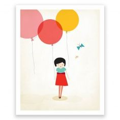 Little One Balloons - Art Print by Mara Girling : Printspace