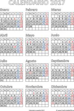 calendario 2017 espaol gratis descargar - Tabla Periodica Keith Enevoldsen En Espanol