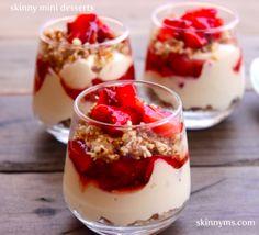 Skinny Mini Dessert - Strawberry Cheesecake