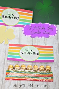 St Patrick's Day - DIY Goodie Bags - Living Chic Mom