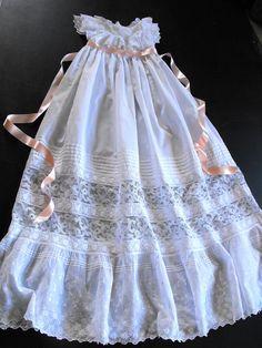 Vintage Victorian Christening Gown English