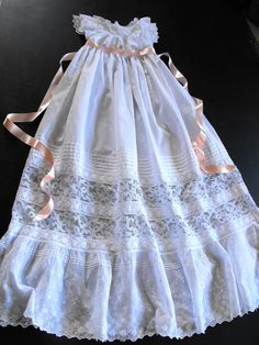 Vintage Victorian Christening Gown English