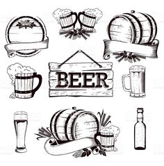 beer set royalty-free stock vector art