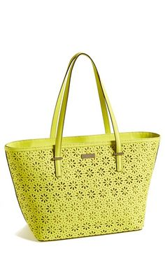 kate spade new york 'small cedar street - harmony' perforated leather tote available at #Nordstrom So fresh for summer.