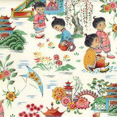 Find Kimono Girl Fabric, Fashion Fabrics, Childrens fabrics at Warm Biscuit Bedding Company