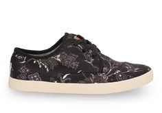 New season, new Paseos. Dark Floral TOMS lace ups for women.