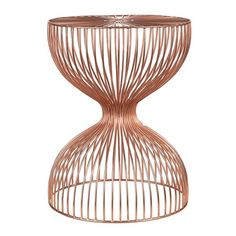 Wire dumbbell stool copper - pols potten