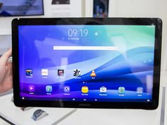Big, bigger, biggest. The Galaxy View tablet has an extra-wide 18.4-inch screen.