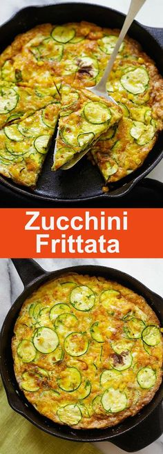 Zucchini Frittata – best and easiest frittata with zucchini and corn. Takes 15 mins to make with only 3 key ingredients, so good | rasamalaysia.com