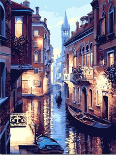 DIY oil paint painting by numbers diy picture drawing coloring on canvas painting by hand wall paint landscape #Affiliate