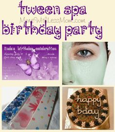 Tween Girl Spa Sleepover Birthday Party Plan from The More With Less Mom (on the cheap!)