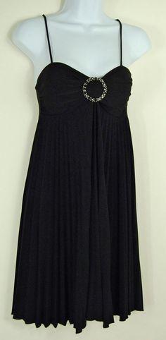 Forever XS Black Cocktail Dress Spaghetti Strap Pleats like Marilyn Monroe Prom #Forever #Sheath #Cocktail