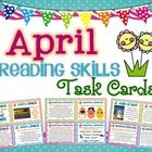 A set of 56 Reading Skills and Enrichment Task Cards that are aligned to common core standards for grades 3-5.      They all have a April/Spring them...
