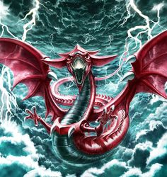 Lightning Dragon Wallpaper | ... Gi-Oh! Duel Monsters, Yu-Gi-Oh!, Slifer The Sky Dragon, God, Lightning