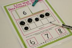I Can Show You How To Make Number Practice Independent and Self-Correcting - Differentiated Kindergarten
