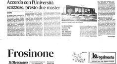 sottoscritto e firmato l'accordo tra  Queen Margaret University di Edimburgo - Università di Cassino -  presto 2 master a Picinisco presso #Iciacca ...Picinisco al centro del mondo!!!