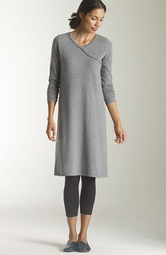 jjill cotton and cashmere dress