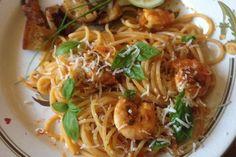 Spaghetti aglio olio e scampi 1