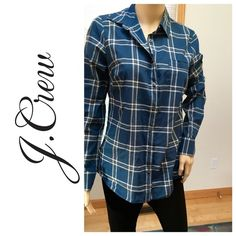 NWT J. Crew flannel Brand new with tags. Mannequin is an extra small. No trades J. Crew Tops Button Down Shirts
