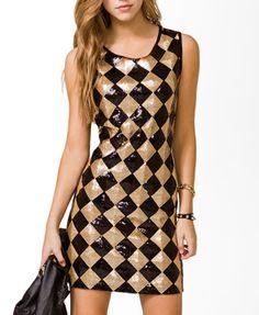 Sequined Diamond Pattern Dress                                                                            $22.80