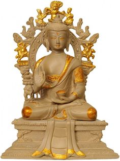 Lord Buddha Seated on Six-ornament Throne of Enlightenment