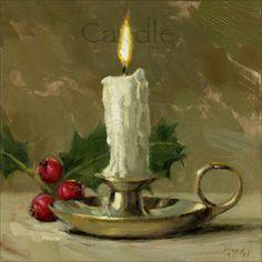 'Amberton Publishing Christmas Candle' Canvas Art