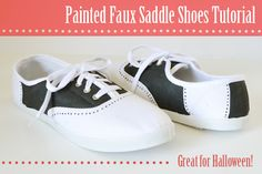 Painted Faux Saddleshoes Tutorial at Mom Spark!