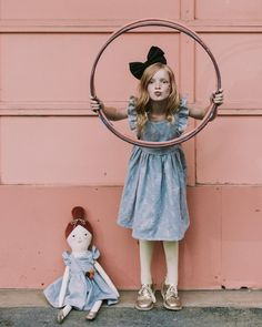 'Summer Nostaglia' @mer_mag + @wrenandjames pinafores with matching dolls