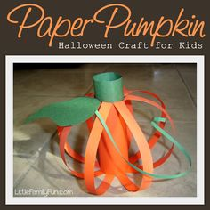 Pumpkin craft for preschoolers. Fun Halloween craft for kids!