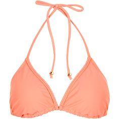 Accessorize Pippa Plait Triangle Bikini Top ($20) ❤ liked on Polyvore featuring swimwear, bikinis, bikini tops, bikini, other, triangle bikini swimwear, bikini swim wear, swimsuit tops, tankini tops and triangle swim wear