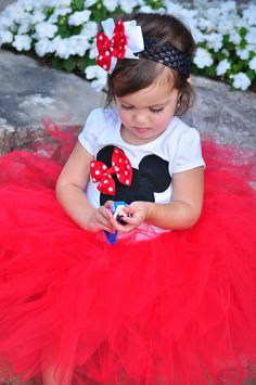 Minnie Mouse Tutu Classic Red by pigtailsandpearls on Etsy.
